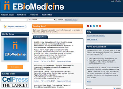 EBioMedicine website