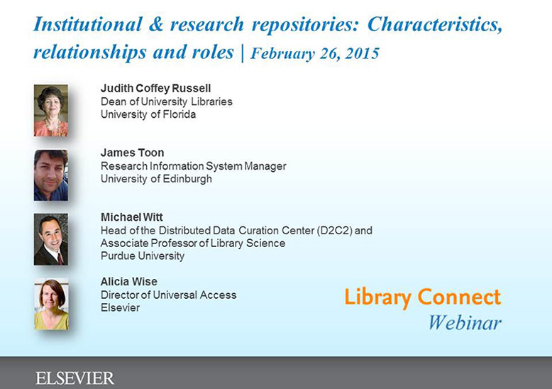 Library Connect repositories webinar