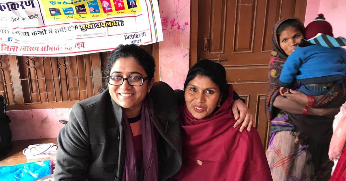 Dr Aparna Sharma with ASHA worker
