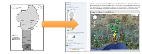 Figure 6. The Interactive (Google) Maps viewer turns a static image into a rich, interactive source of information.