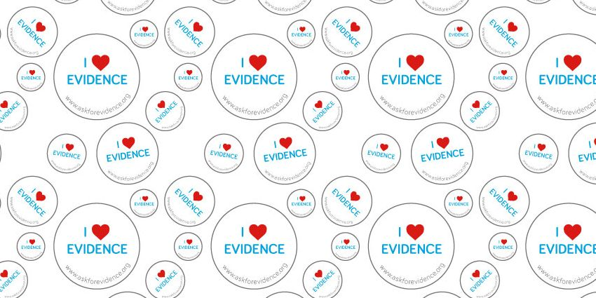 Sense About Science's I Love Evidence badges