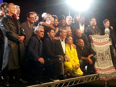 Dr. Marius Stan (front row left) with the cast of Breaking Bad.