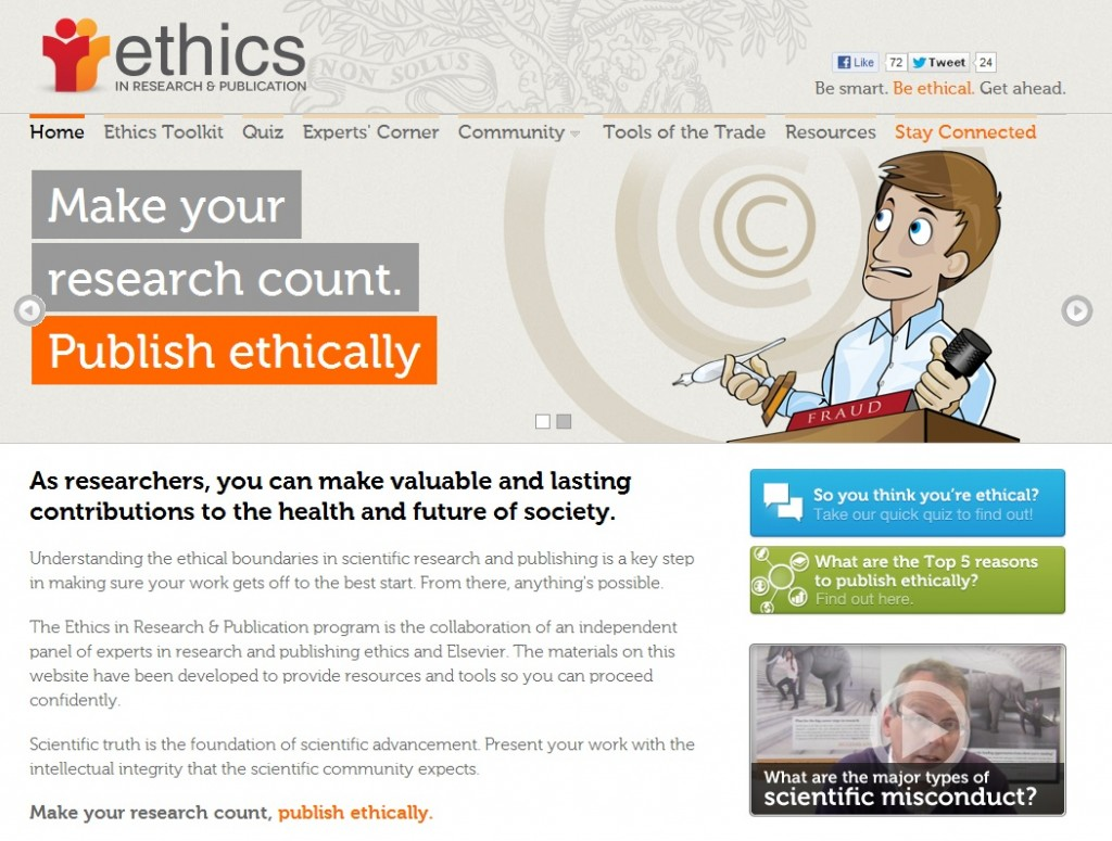 Ethics in Research & Publishing website