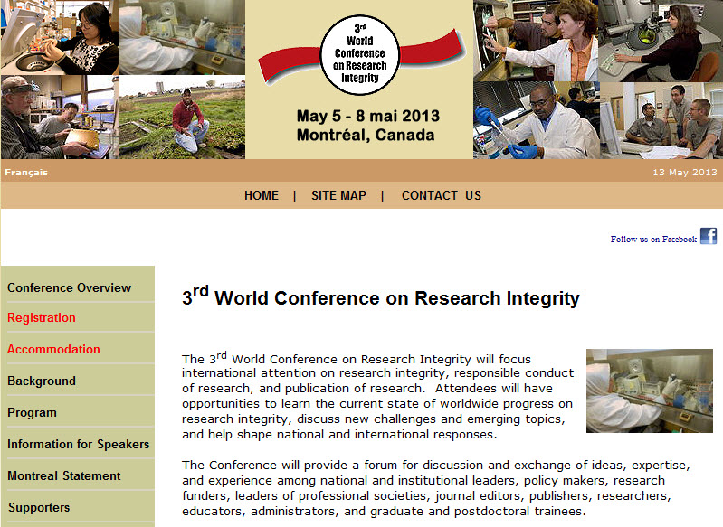 3rd World Conference on Research Integrity