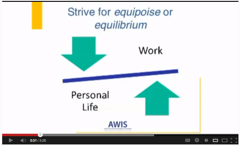 Video: AWIS program for work-life satisfaction