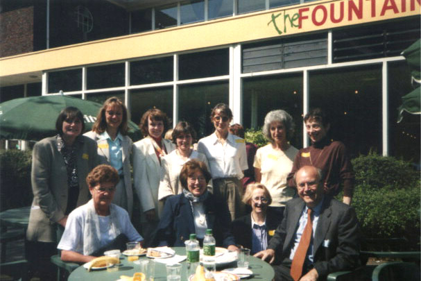 The editorial introducing Clinical Postcards includes this photo recognizing some of the people who contributed greatly to cognitive neuropsychology by studying phenomena firstly observed in clinical settings: Elizabeth Warrington with some of her collaborators. Back row: Merle James, Lisa Cipolotti, Roz McCarthy,  Angela Costello, Doreen Baxter, Pat McKenna, Helen Brittan; front row: Marianne Jackson, Elizabeth Warrington, Francis Clegg, Tim Shallice.