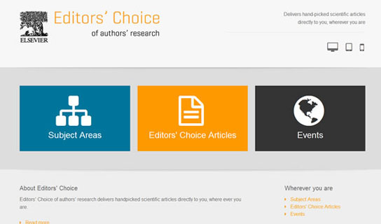 The Editors' Choice website