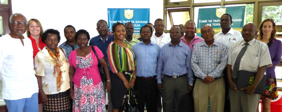 First Consortium meeting April 1, 2015, in Dar es Salaam. The author of this story, Dr. Charon Duermeijer, is second to the left.