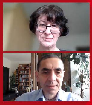 Dr Özlem Türeci (top) and Dr Uğur Şahin, co-founders of BioNTech