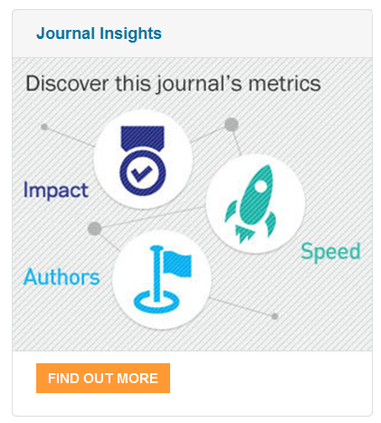 An example of the Journal Insights pod, which can be found on the Elsevier.com journal homepage of participating journals.
