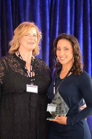 Joan Coffey (left) with Nicole Johnson at the AMM Nexus Award Ceremony.