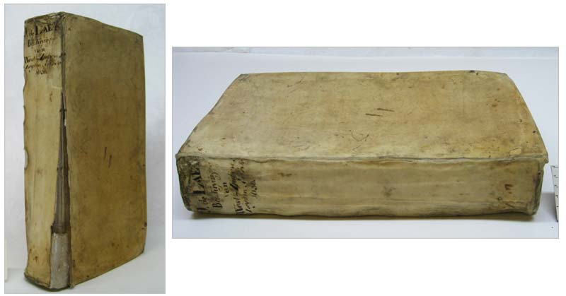 De Laet's Description of the West-Indies (1630) before and after restoration (Photos: Femke Prinsen)