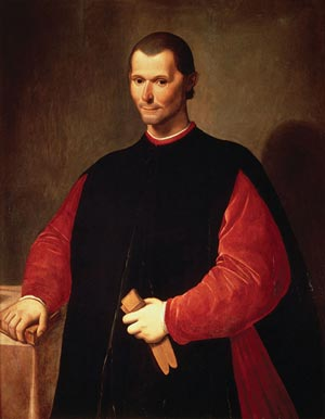 "Niccolò Machiavelli was a politician, philosopher and writer who lived in Florence during the Renaissance. He is known for his treatise The Prince, in which he described the tactics used by unscrupulous leaders to get ahead, leading to the term ""Machiavellian."" This is his portrait by Santi di Tito. (Source: Wikipedia)"