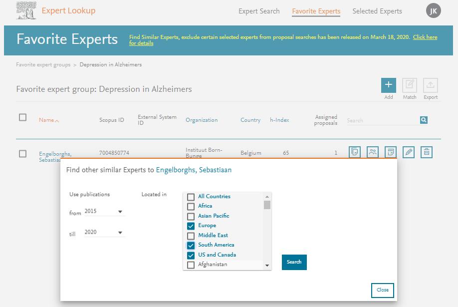 Favorite Experts - Expert Lookup   Elsevier