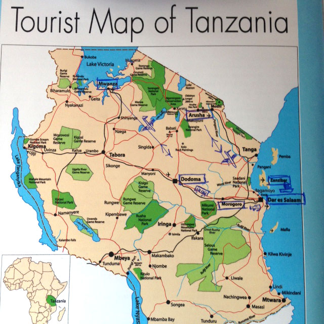 Overview on our Tanzanian roadtrip, visiting universities by all means of transport.