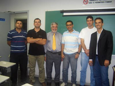 Dr. Peter Tarlow trains police departments worldwide on TOPPS (Tourism Oriented Policing and Protection Services). Here he is with a class in Rio de Janeiro (third from left).
