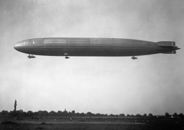 The Zeppelin's size and elegant form masked terrible vulnerabilities; here is L 57, wrecked in a storm in 1917, fortunately without any loss of life. (Courtesy National Museum of the US Air Force, for Endeavour, Volume 38, Issue 2)