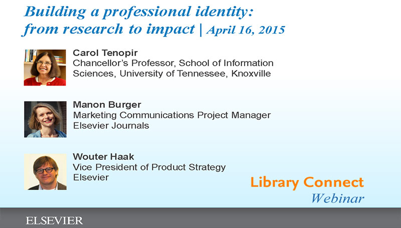 Library Connect webinar: Building a professional identify