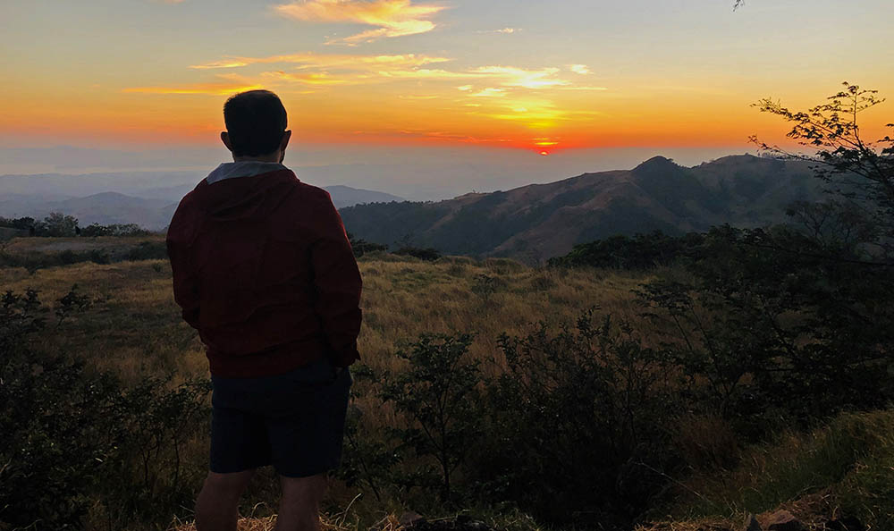 Prof. Ricardo Sánchez-Murillo in the mountains of Costa Rica.
