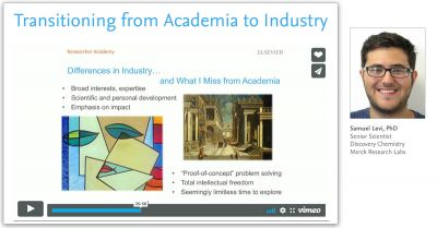 Academia to Industry webinar