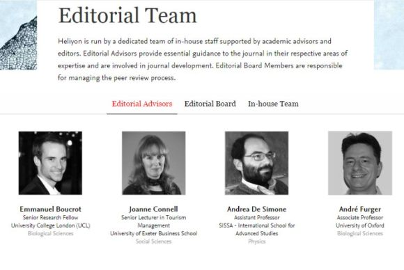 Heliyon Editorial Team