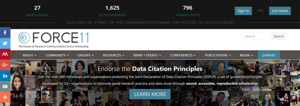 Force11 Data Citation Principles
