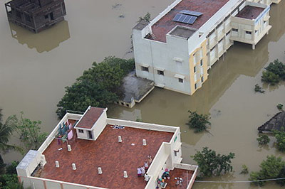 When Chennai, India, was inundated with massive flooding in December, many of Elsevier's employees were stranded in their homes without electricity or access to a phone. Still, the business managed to continue critical activities supporting customers around the world and meeting deadlines. (Photo: Indian Air Force)