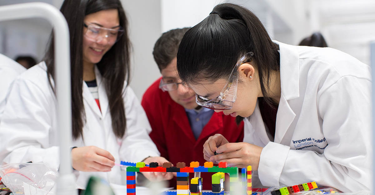 Makers in action: Students build a spectrometer out of Legos at the Imperial College of London.