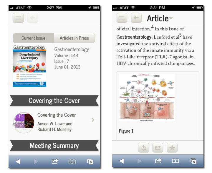 The new journal-branded websites will detect the device and present a fully mobile optimized journal for viewing inside the mobile browser.