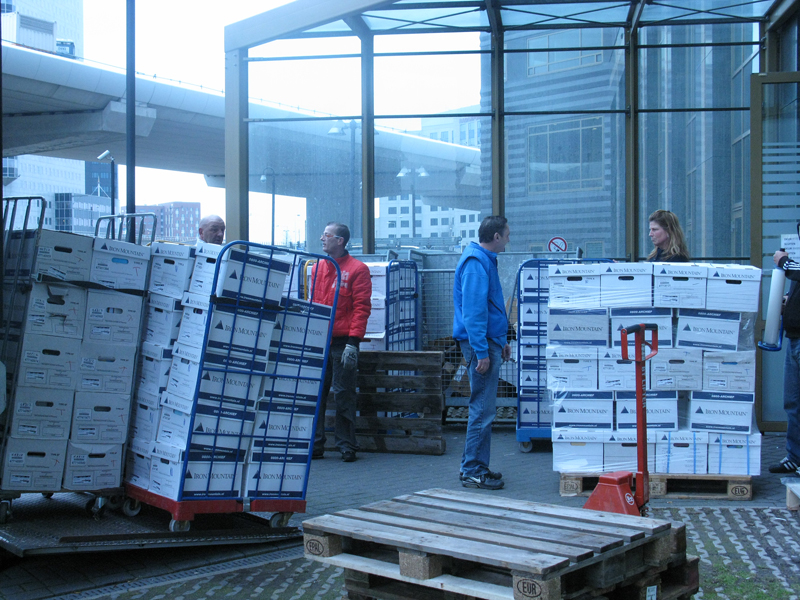 <strong>Preparing a shipment.</strong>
