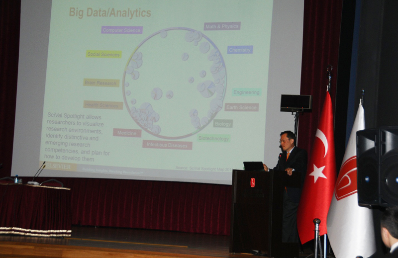 Youngsuk 'YS' Chi presents 'Global Trends in R&D: Challenges and Opportunities for Turkey' at a March 12 event on research performance and evaluation at Hacettepe University in Ankara, Turkey