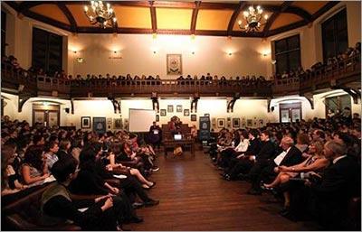 Cambridge Union debating chamber (Photo courtesy of the Cambridge Union Debating Society)