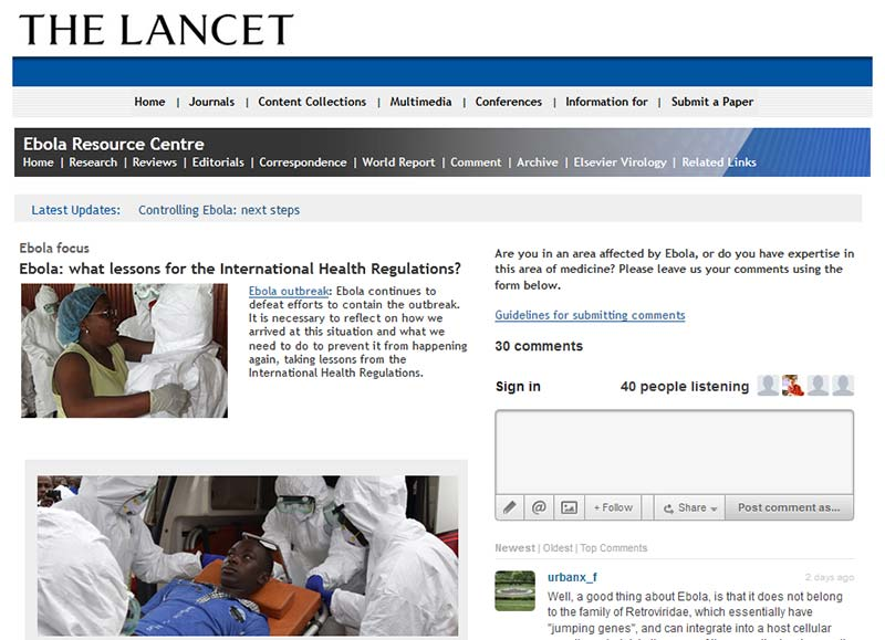 The Lancet Ebola Resource Centre