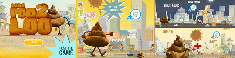 "UNICEF India's ""Take Poo to the Loo"" campaign sees to engage youth with interactive games and videos."