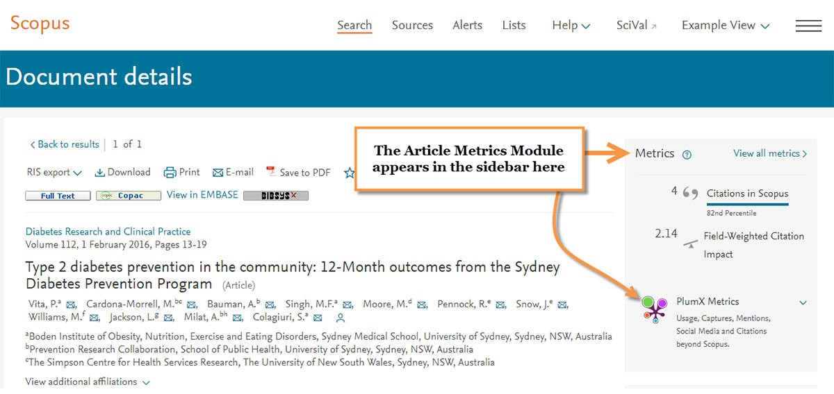 You can use PlumX Metrics in Scopus to help evaluate the impact of your work.