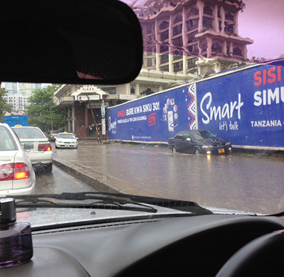Travelling in Dar es Salaam on a rainy day requires a lot of patience.