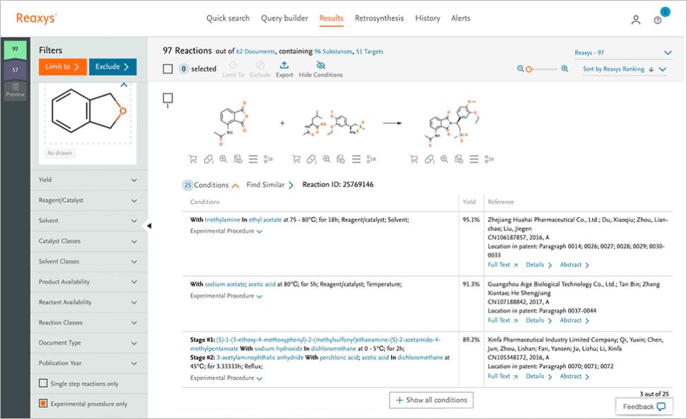 Filter results screenshot
