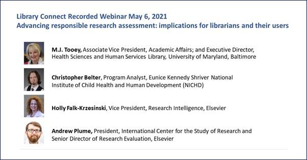 Responsible research assessment webinar