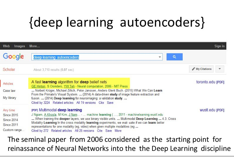Google search for deep learning autoencoders