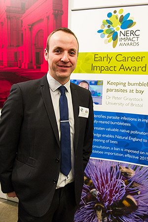 Peter Graystock at the NERC Awards ceremony 2015. (Photo by NERC Media)