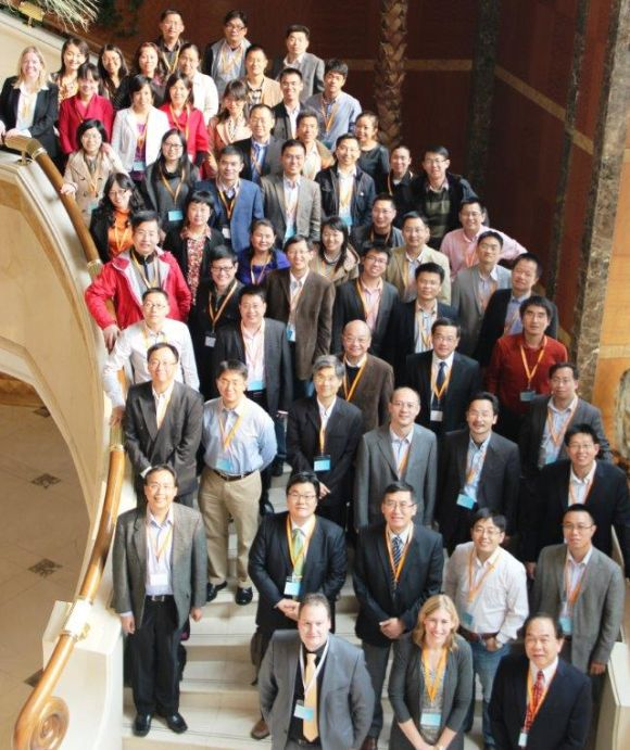 Attendees and presenters at the first Future Editors' seminar held in Beijing last year.
