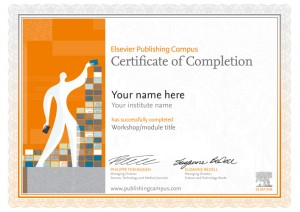 Certificate sample when a researcher completes a module
