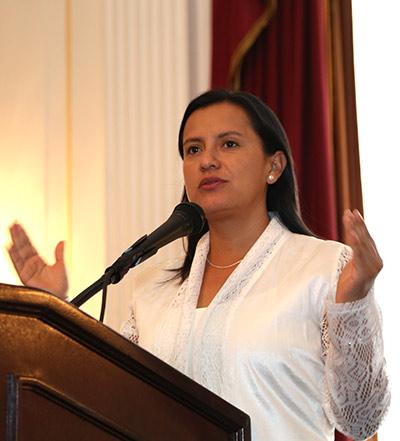 Magaly Blas, PhD, Associate Professor of Public Health, Universidad Peruana Cayetano Heredia, Lima (Photos by Alison Bert)