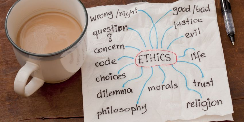 Ethical dilemmas noted on a napkin