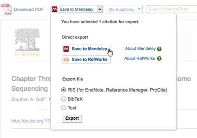 Mendeley ScienceDirect Exporter