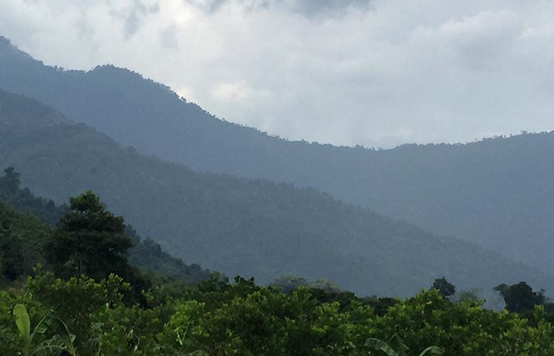The mountains of Nan, in northern Thailand.