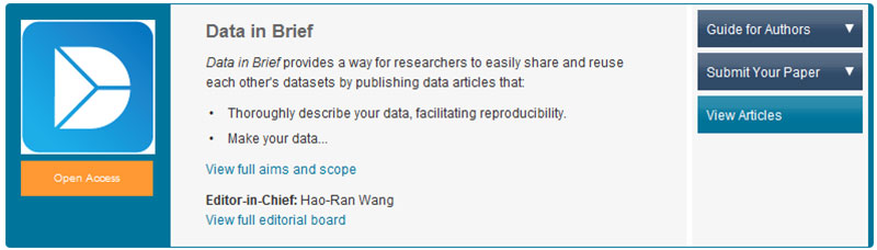 New data journal lets researchers share their data open access