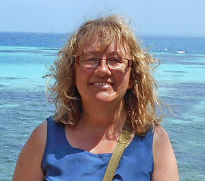 Geraldine Lovell on Changuu Island, 5.6 kilometers northwest of Zanzibar