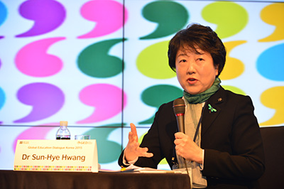 Dr. Sun-hye Hwang, President of Sookmyung Women's University, explains how online learning allows universities to reach new groups of students.