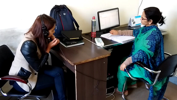 Doctor doing a consultation from one of the provider site at Kathmandu (Photo by Rajan Parajuli)